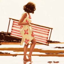 Sweet Bird of Youth (Study) Jack Vettriano Retrospective Exhibition Poster - Posters