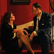 Playing the Party Game - Jack Vettriano Retrospective Exhibition Poster - Posters