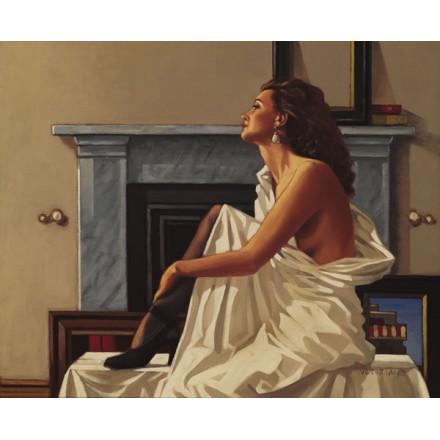 Model in White by Jack Vettriano