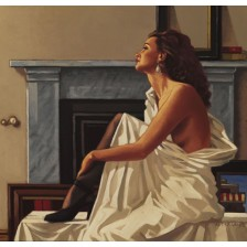 Model in White by Jack Vettriano - Original Paintings