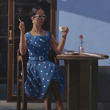Original painting by Jack Vettriano entitled The Ice Maiden