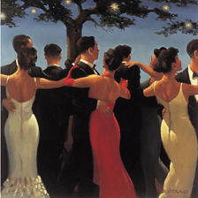 Canvas print featuring Waltzers by Jack Vettriano